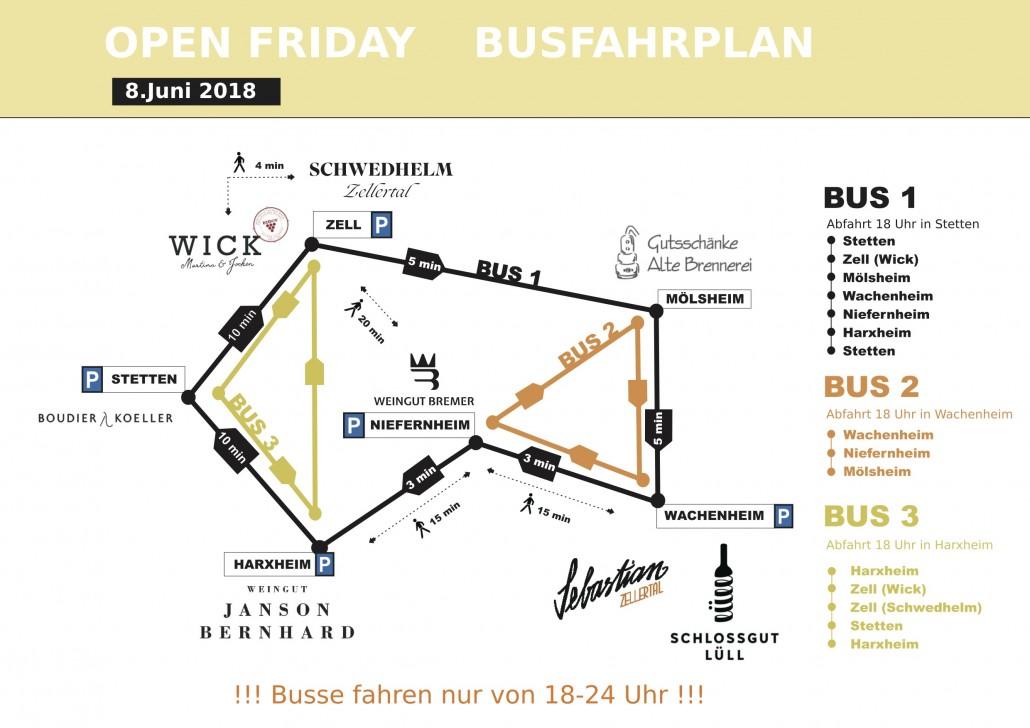 Bus fahrplan Open Friday_Juni_2018