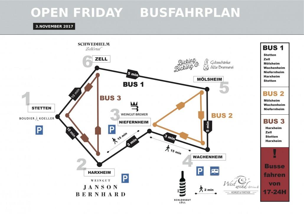 Bus fahrplan of 2017 November